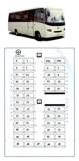Схема рассадки мест в автобусе фото 539